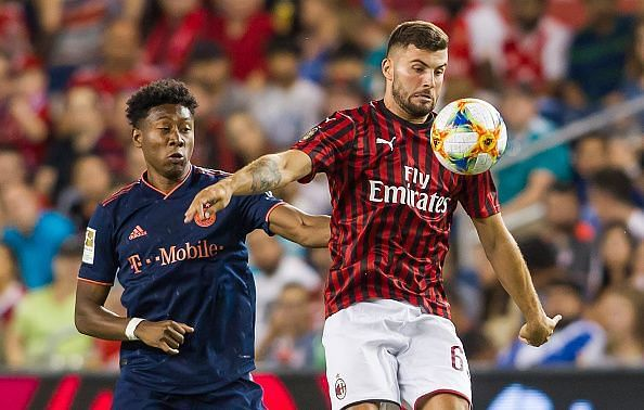 Patrick Cutrone during the International Champions Cup match between Bayern and AC Milan