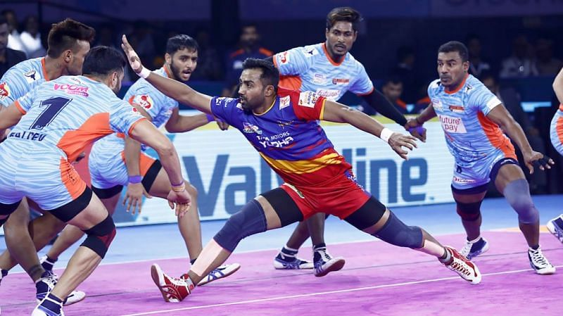 The Bengal Warriors defensive unit was in fine form against UP Yoddha