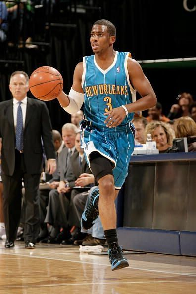 Chris Paul and the New Orleans Hornets against the Indiana Pacers