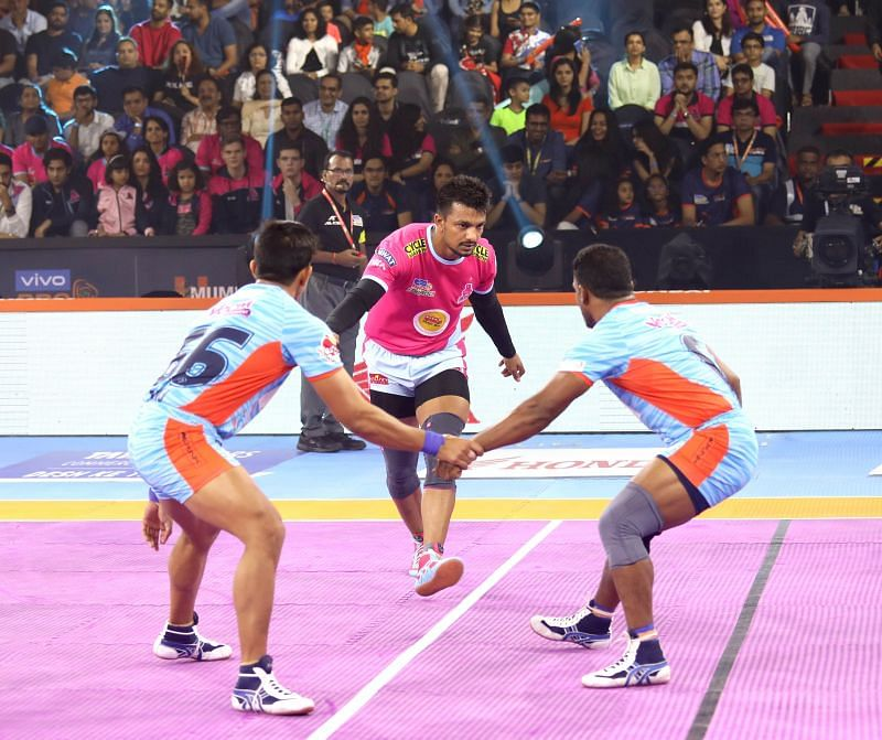 Deepak Narwal was the star for the Pink Panthers