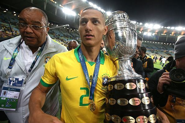 Richarlison won the Copa America with Brazil this month, having enjoyed a good campaign with Everton