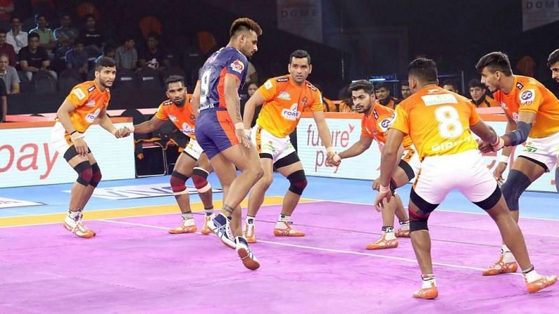Maninder Singh scored 14 raid points versus Puneri Paltan