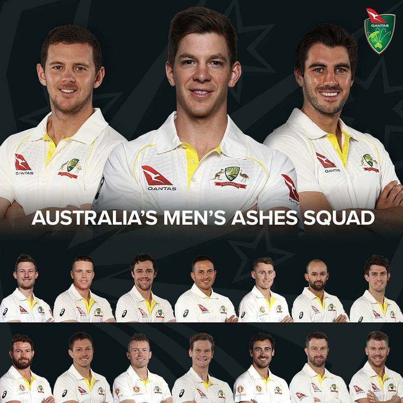 Ashes Squad for team Australia.
