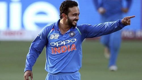 Kedar Jadhav was hardly used as a bowler during the group stage of India