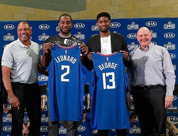 Los Angeles Clippers introduce Kawhi Leonard and Paul George