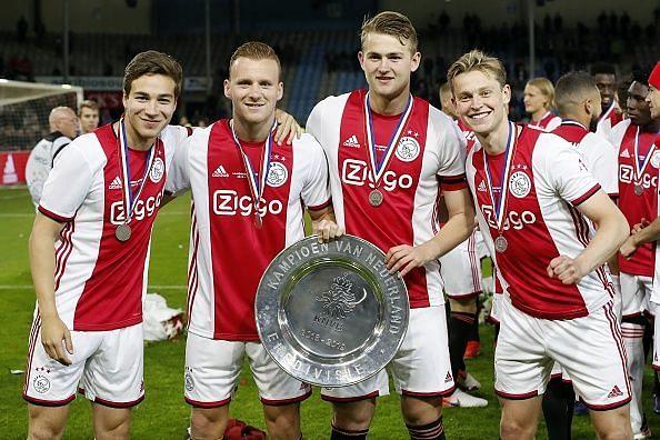 De Ligt captained Ajax to the Eredivisie