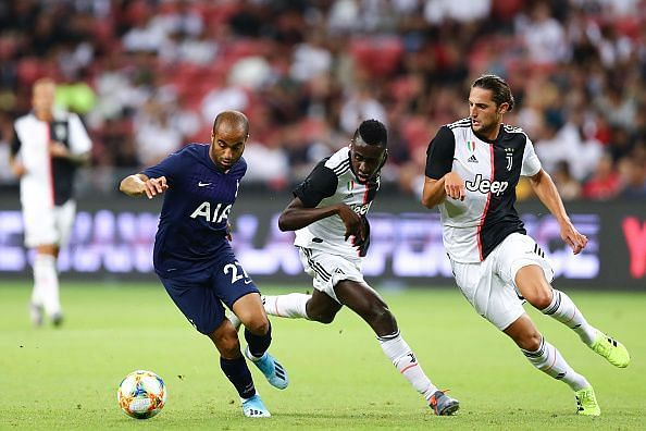Juventus played Tottenham Hotspur in the first game