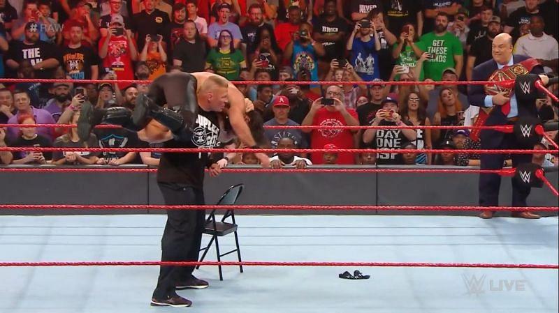 Lesnar brutalizes Rollins