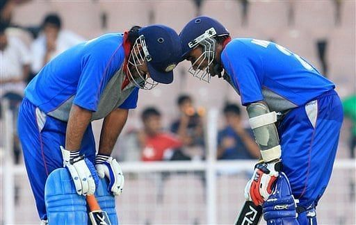 MS Dhoni and Mahela Jayawardene stitched together a 218-run partnership in the 2007 Afro-Asia Cup