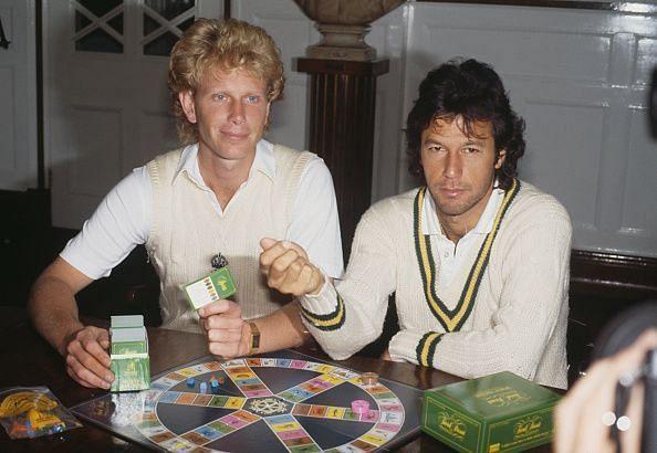 Imran Khan (right)