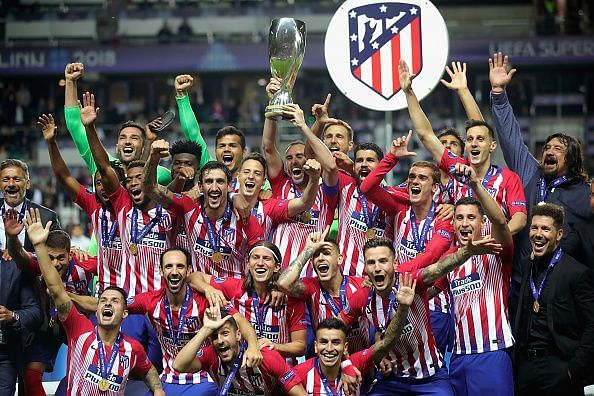 Atletico Madrid beat Real Madrid for their 3rd UEFA Super Cup title in 2018