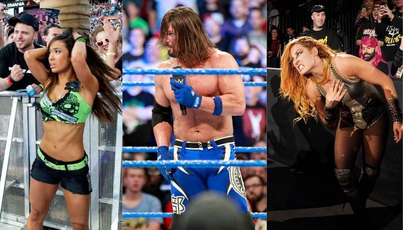 AJ Lee, AJ Styles, and Becky Lynch