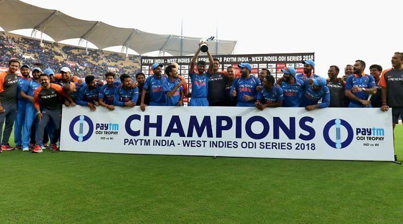 भारत ने वेस्टइंडीज़ को 2018 सीरीज में हराया था