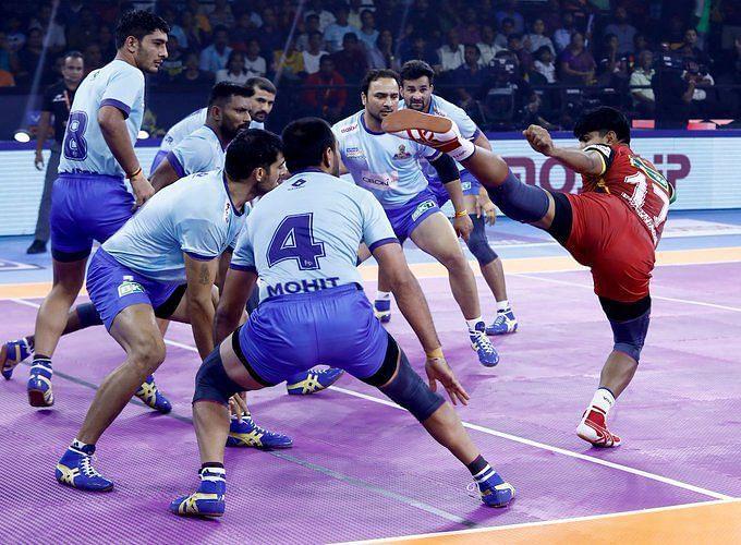 प्रो कबड्डी 2019, तमिल थलाइवाज vs बेंगलुरु बुल्स