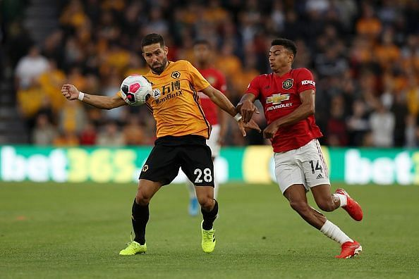 Jesse Lingard in action during the game.
