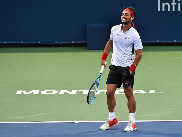 Fognini is all smiles after reaching the 2019 Montreal quarterfinals