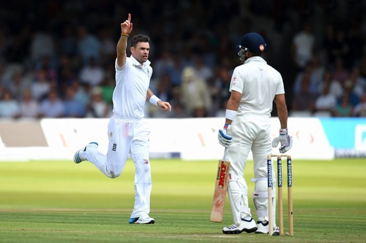 James Anderson got the better of Kohli dismissing him four times in the 2014 Test Series in England.
