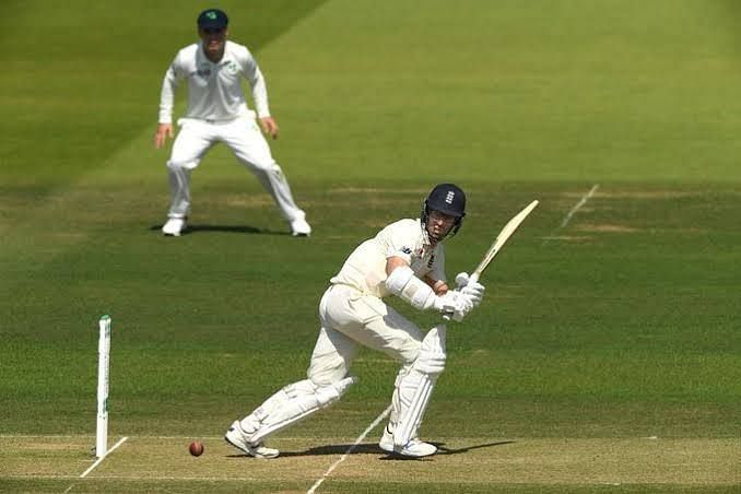 Jack Leach plays one to the on-side.
