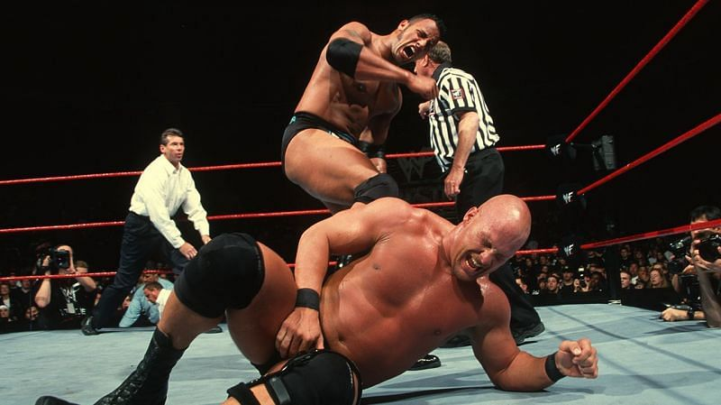 The Rock: Defended the WWE Championship versus Stone Cold at WrestleMania XV