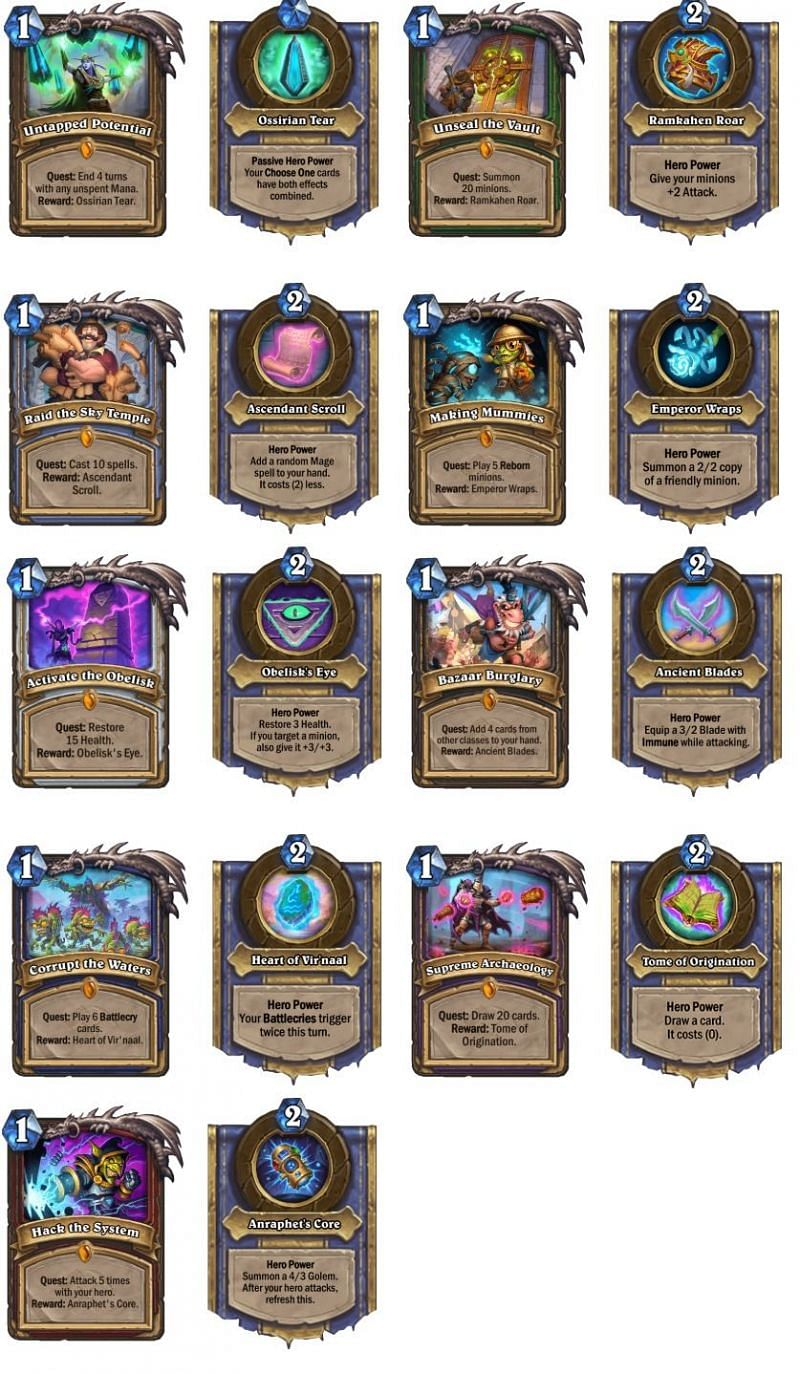 All class quests from the expansion
