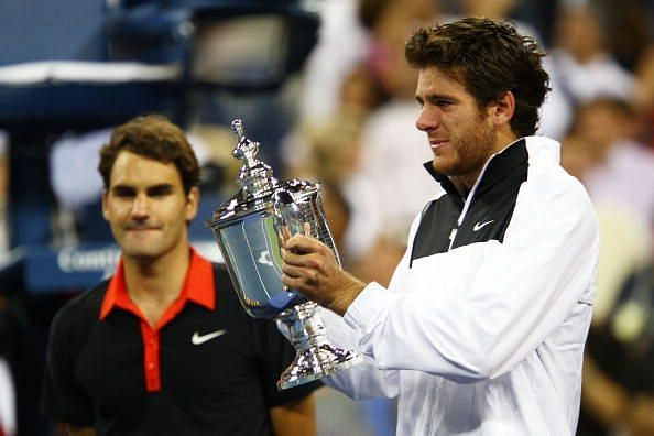 In the 2009 US Open final, Del Potro ended Federer