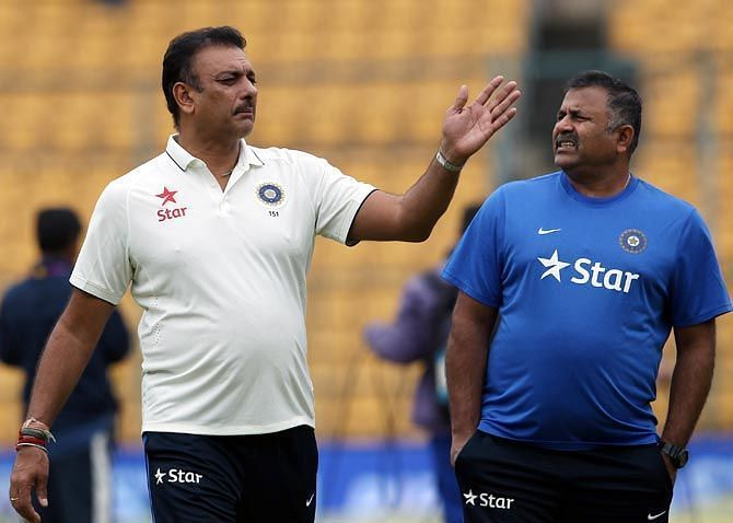 Bharat Arun and R Sridhar held onto their roles of Bowling and Fielding Coach respectively