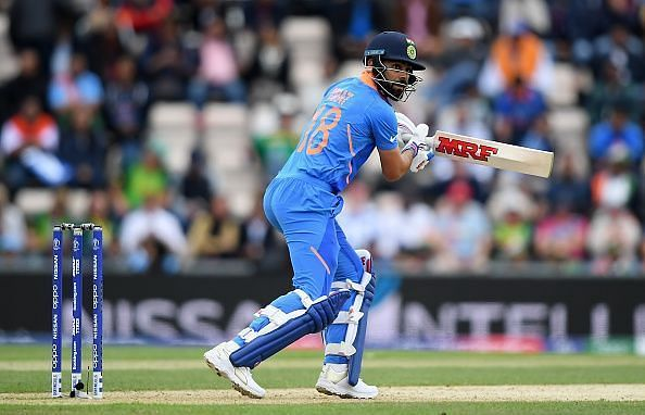 Kohli at the crease against South Africa
