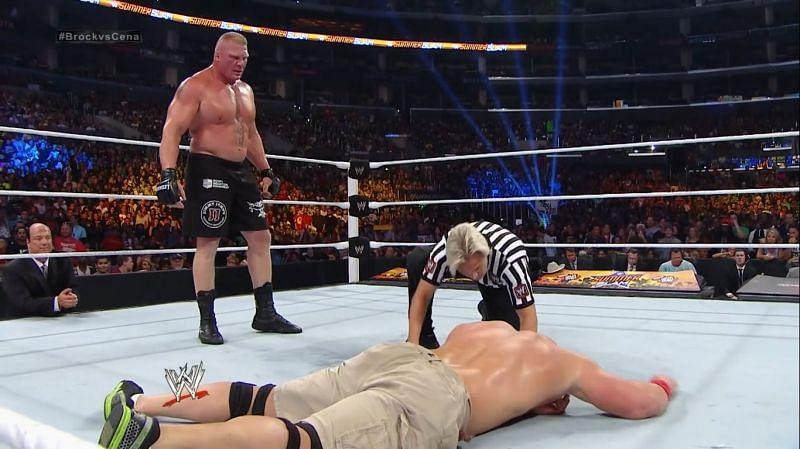 Lesnar destroys Cena