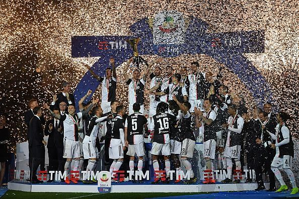 Juventus celebrate a record-extending 35th Scudetto in 2018-19