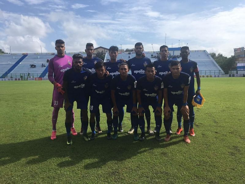 Gokulam Kerala defeated the Chennaiyin FC B team (pictured) 4-0 in the Durand Cup