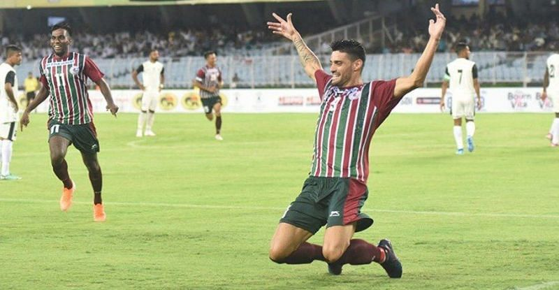 Salva Chamorro scored the first goal for Mohun Bagan on Wednesday.