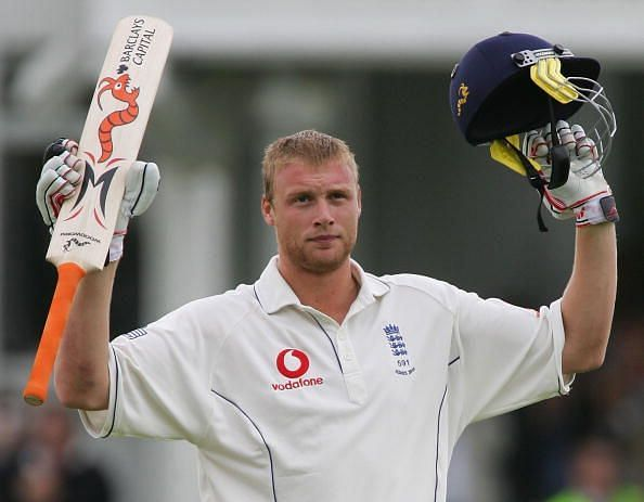 Andrew Flintoff during his Ashes glory years
