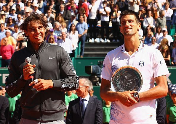 Nadal celebrates a record 8th consecutive title at 2012 Monte Carlo