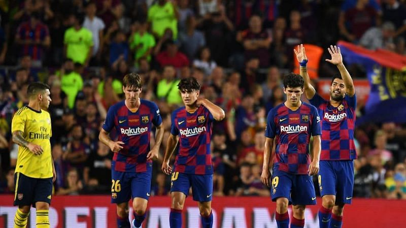 Barcelona defeated Arsenal 2-1 to lift the Joan Gamper trophy
