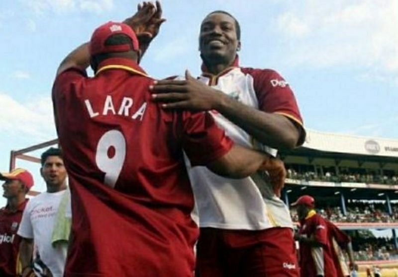 Brain lara and chris gayle