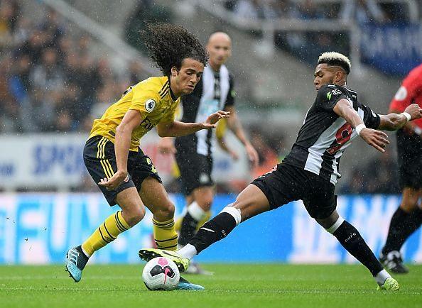 Guendouzi (L) was a solid presence in midfield
