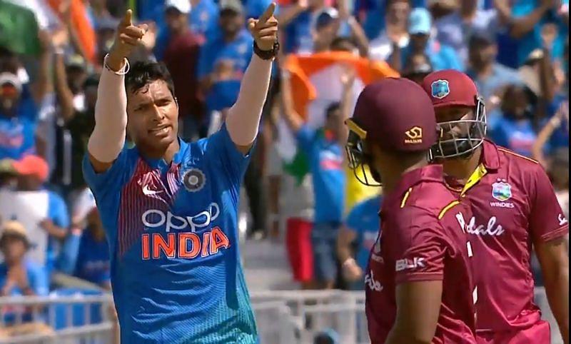 India vs west indies 1st t20 - Navdeep saini