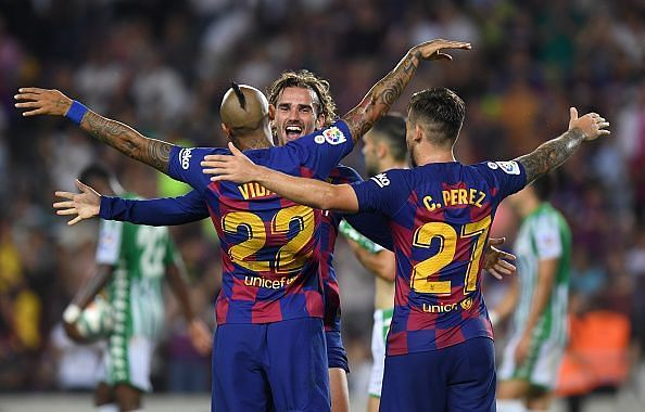 Antoine Griezmann netted a brace for his new side Barcelona as they thumped Betis 5-2 last time out