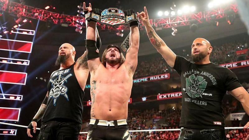 WWE यूनाइटेड स्टेट्स चैंपियन एजे स्टाइल्स