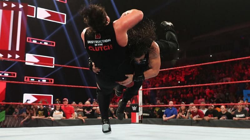 Joe and Reigns in action
