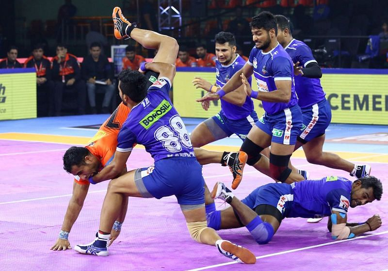 U Mumba came close to tying the game, but Haryana held on for the win