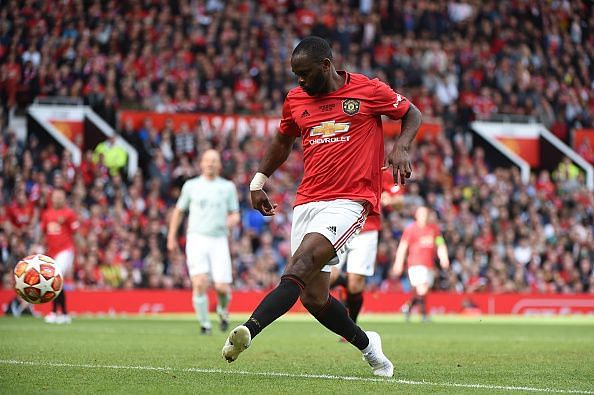 Louis Saha in action during Manchester United