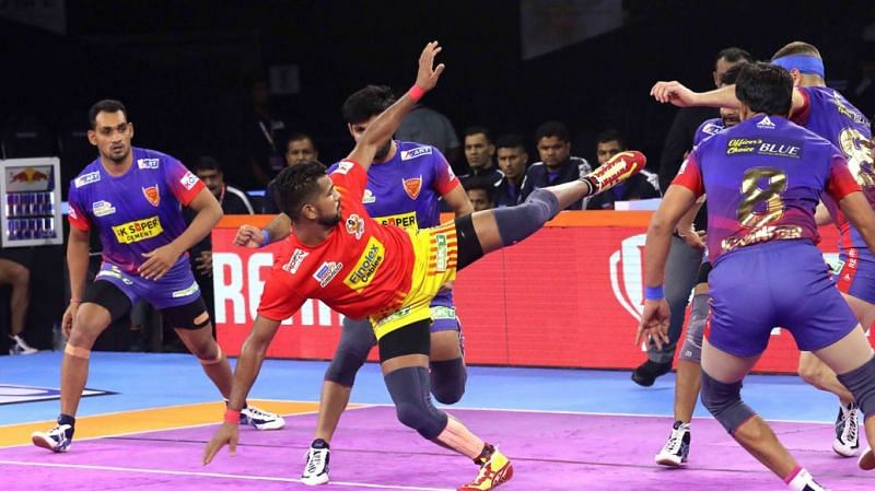 Gujarat Fortune Giants defeated Dabang Delhi K.C. by 5 points