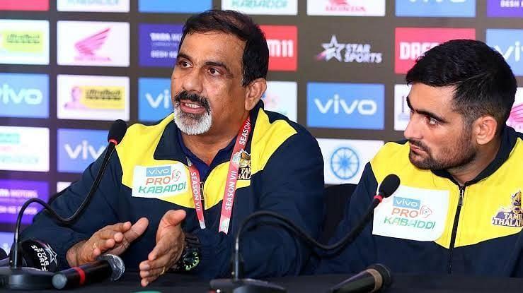 Tamil thalivas coach E.Bhaskaran