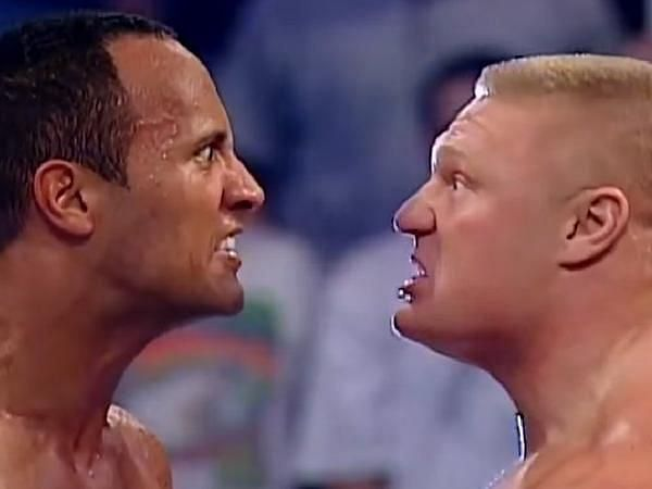 The Rock and Lesnar