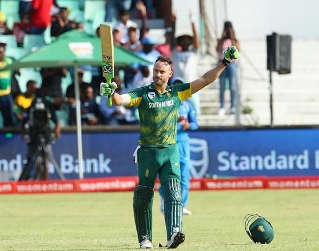 दक्षिण अफ्रीकी कप्तान फाफ डू प्लेसी इस सूची में पांचवे स्थान पर हैं