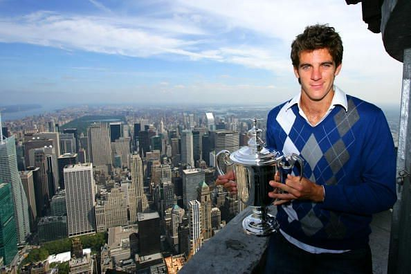 In his 6th consecutive final at the US Open in 2009, Federer lost to Juan Martin Del Potro