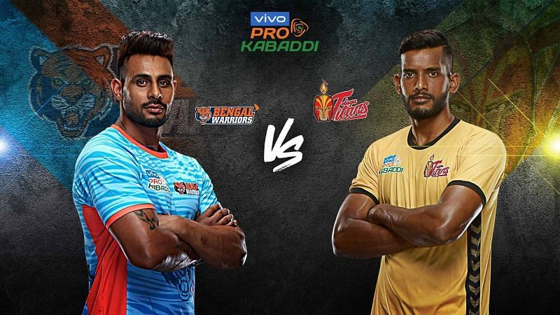 Bengal Warriors have had the upper hand over Telugu Titans with close finishes. Will Telugu Titans improve their record tonight?