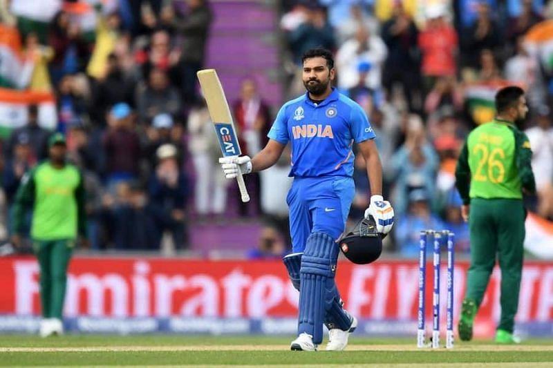Rohit Sharma during the match against Pakistan