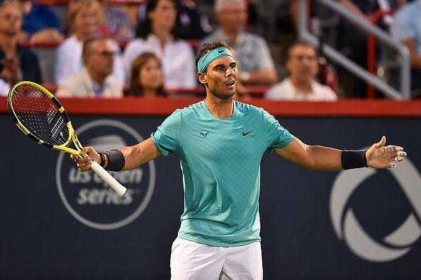 Nadal celebrates his 3rd round win over Pella